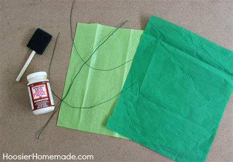 How To Make Paper Leaves - how to make tissue paper flowers hoosier
