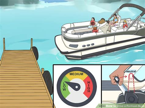 how to draw a boat coming towards you how to drive a pontoon boat with pictures wikihow