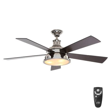 best indoor ceiling fans hton bay marlton 52 in indoor liquid nickel ceiling