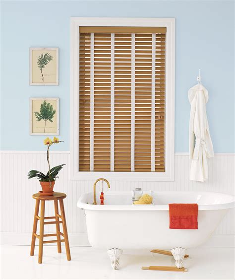 wooden blinds bathroom 20 ways to upgrade your bathroom real simple