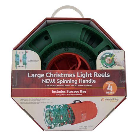 christmas lights storage reels set of 4 spinning storage light reel w bag