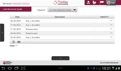 monte dei paschi di siena carta spider mps tablet android apps on play