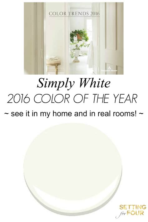 benjamin moore 2016 color of the year color of the year 2016 simply white setting for four