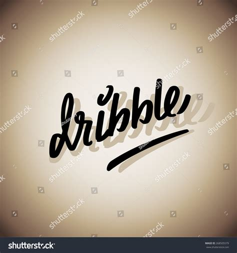 Is Handcrafted One Word - dribble handmade crafted words lettering stock vector