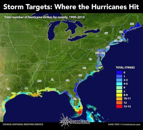 us weather map hurricane targets where the hurricanes hit infographic