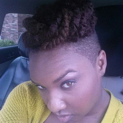 Kinky Twist With Shaved Sides | crochet braids kinky twist shaved sides crochet braids