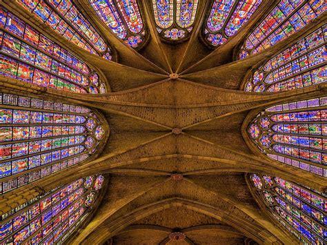 imagenes vidrieras goticas santa maria leon