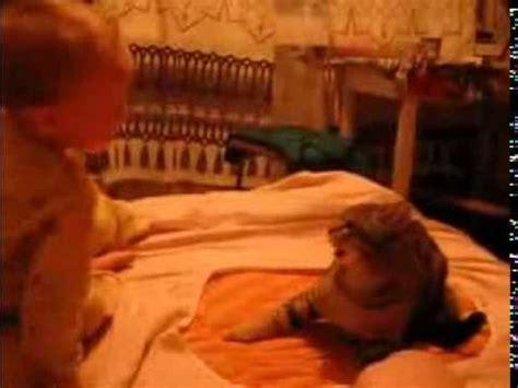 St Cat Kid kid hits cat and cat hits back