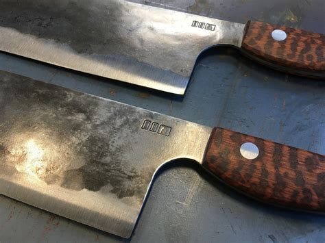 forged titanium japanese style chef s knives with