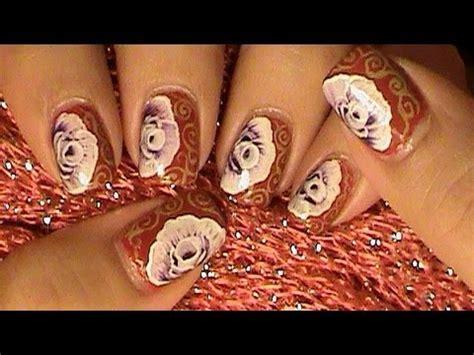 imagenes de uñas decoradas a mano aprende a pintar una rosa con la tecnica a mano alzada