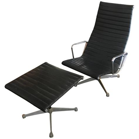vintage eames chair and ottoman vintage early eames aluminium group lounge chair and
