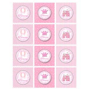 princess cupcake topper or party sticker party printable