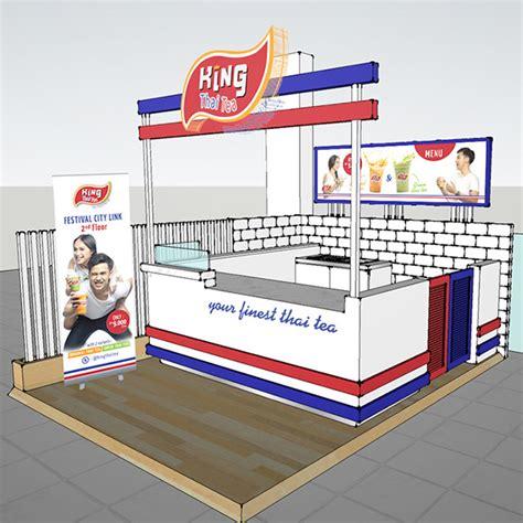 design booth thai tea king thai tea branding on behance