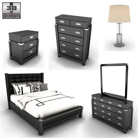 diana bedroom set ashley diana platform bedroom set 3d model humster3d