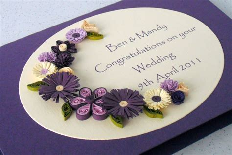 card with quilling paper cards quilled wedding cards