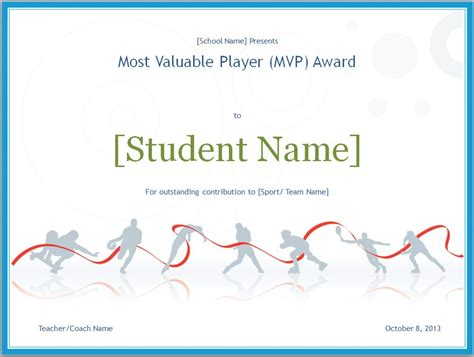 player of the day certificate template mvp certificate mvp certificate template