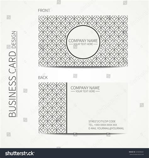 cube business card template geometric cube monochrome business card template for your