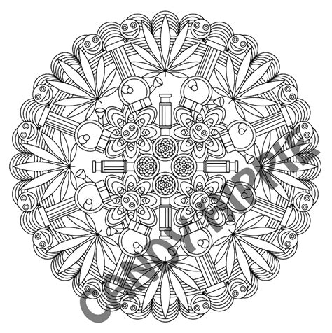 Free Coloring Pages Of Weed Leaf Trippy Pot Leaf Coloring Pages