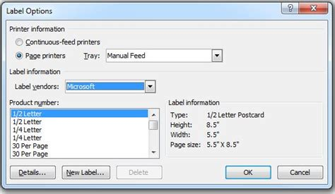 Printing Labels In Word 2013