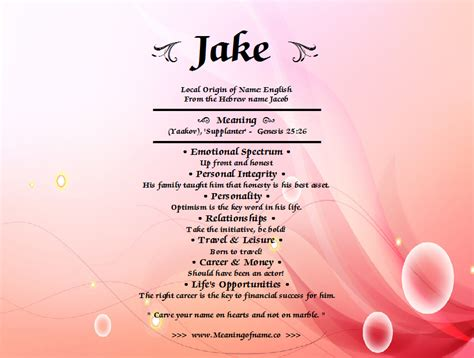 meaning in jake meaning of name