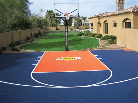 backyard basketball court backyard courts gallery sport court of southern california