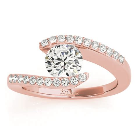 Tension Set Engagement Rings by Accented Tension Set Engagement Ring Setting 14k