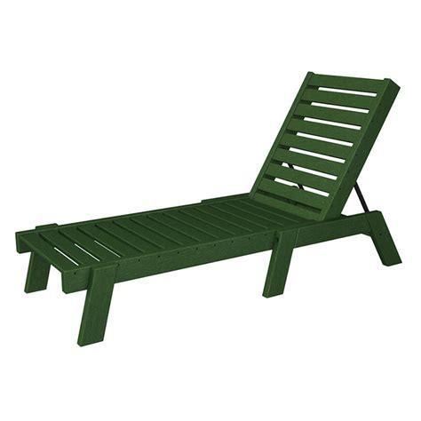 armless chaise lounge chair polywood captain armless chaise lounge best all weather