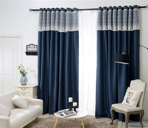 bedroom superb bedroom blackout curtains navy blue and aliexpress com buy sunnyrain 1 piece navy luxury curtain
