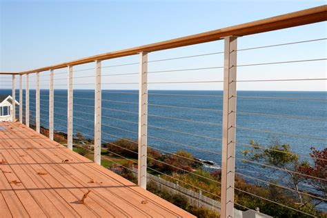 Stainless Steel Deck Railing by Stainless Steel Cable Railing Posts Powder Coated San