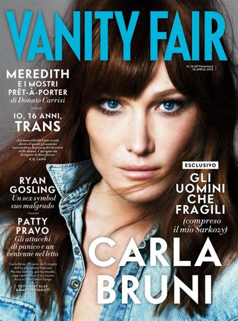 sulla vanit carla bruni sulla cover di vanity fair aprile 2013