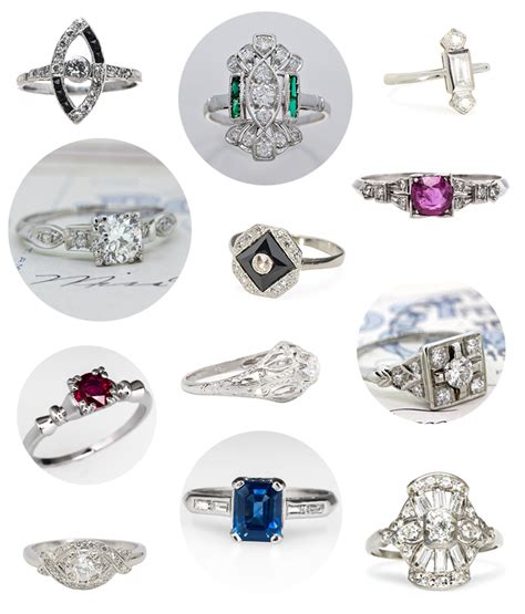 20 vintage platinum engagement rings for 3k