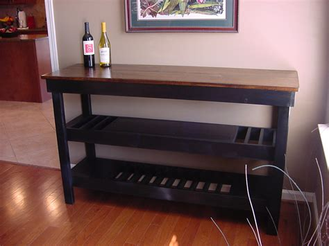 coffee bar tables stained maple top wine bar with dual wine storage