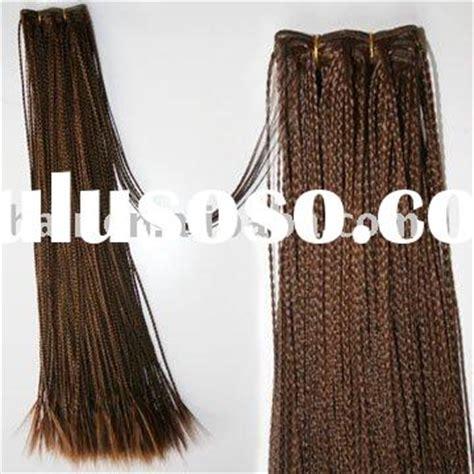 pre braided track hair human hair micro braid weave