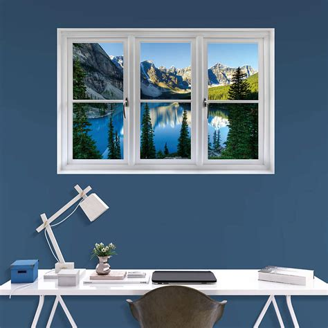 Custom Fatheads Wall Stickers banff mountains and lake instant window wall decal shop