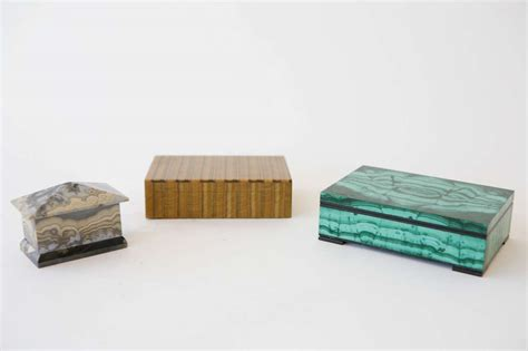 geode box natural stone boxes in tigers eye and mixed geode at 1stdibs