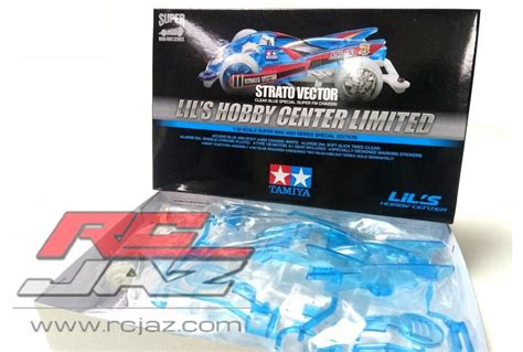 Murah Mini 4wd Strato Vector Blue White tamiya 92352 strato vector clear blue special fm chassis lils hobby center limited