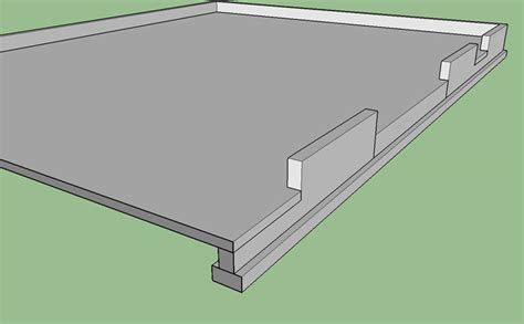 Garage Foundation Design foundation blockout for garage doors foundation