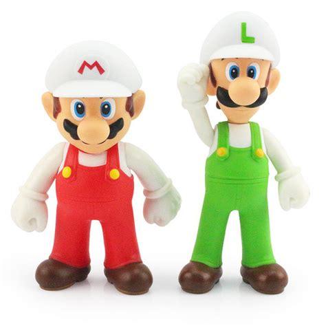 aliexpress toys 2pcs lot 12cm super mario bros white hat mario luigi pvc
