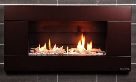 Fireplace Indoor Gas Escea Indoor Gas Florentine Bronze Fireplace Ferro Front