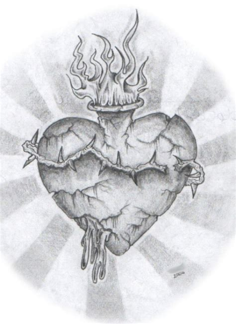 sacred heart tattoo design sacred by flashguy82 on deviantart