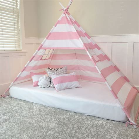 canopy tent bed play tent canopy bed in pink and white stripe