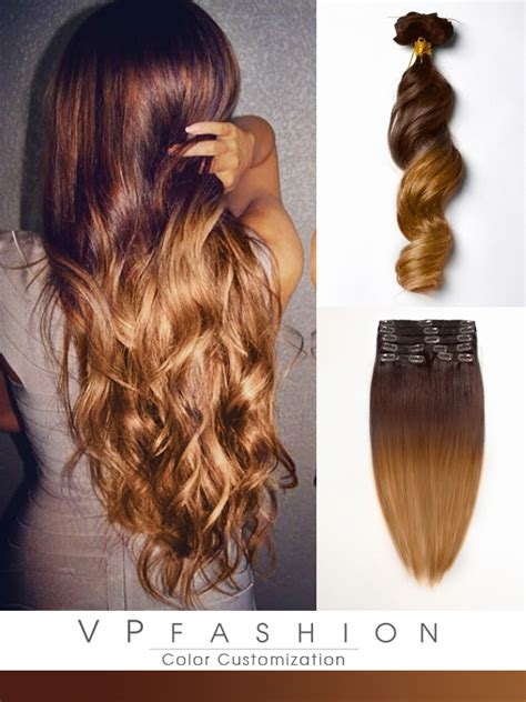 color hair extension two colors ombre clip in hair extensions m3020 m3020