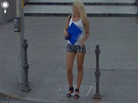 sexy ladies  caught  google street view  pics
