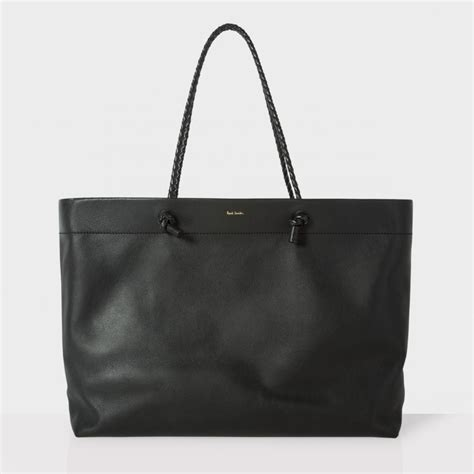 Paul Smith Bag All Weather by Paul Smith S Large Black Leather Paper Bag Shopper