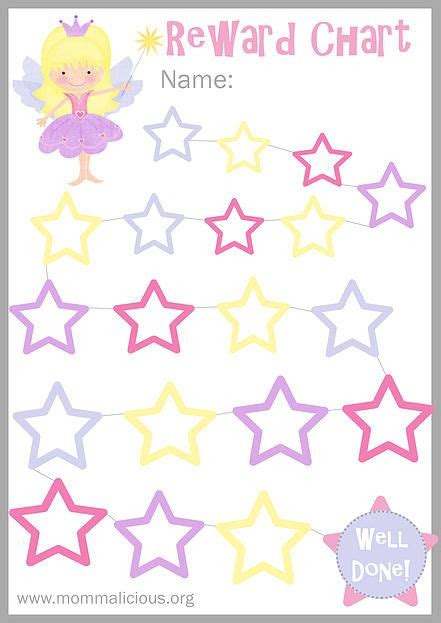 printable star reward chart mommalicious parenting website reward charts free
