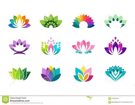 logo fiori logo di lotus progettazione di vettore logotype dei