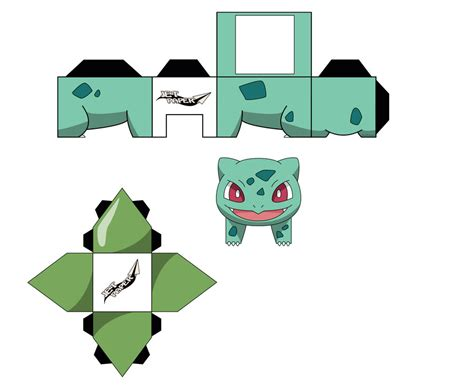 Bulbasaur Papercraft - the gallery for gt papercraft bulbasaur