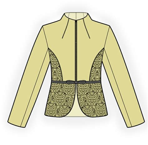 download pattern jacket jacket with lace sewing pattern 4203 made to measure