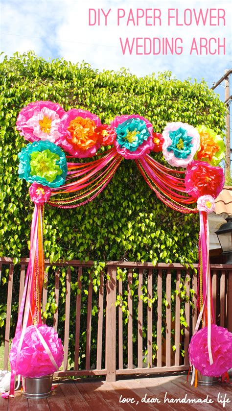 How To Make Fall Decorations At Home Diy Paper Flower Wedding Arch Dear Handmade Life
