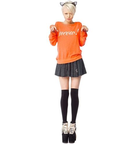 Baggy Meow wildfox couture meow baggy jumper dolls kill